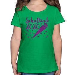 Shirtracer T-Shirt Schulkind 2020 mit Schultüte und Sternchen lila - Einschulung und Schulanfang - Mädchen Kinder T-Shirt - T-Shirts einschulung geschenk 140 (9/11 Jahre)