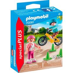 Playmobil Kinder mit Skates und BMX inkl. Pylonen 70061