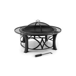 Blumfedt Feuerschale Ronda Feuerschale Ø95cm Grill Feuerstelle Funkenschutz Stahl brüniert, Feuerschale aus brüniertem Stahl