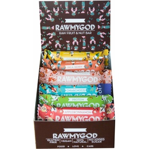 Rawmygod Vegane Snack Energieriegel 15er Sparpaket - Just Nuts and Fruits Raw