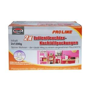 Reinex Luftentfeuchter Box, Hilft gegen Feuchtigkeit im ganzen Haus, 1 Packung = 2 x 1,2 kg Nachfüllpacks