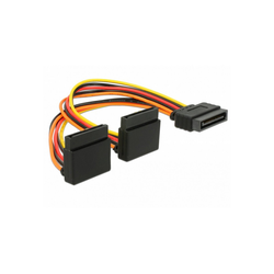 Delock Stromkabel SATA 15Pin (Stecker) > 2x SATA 15Pin Stromkabel
