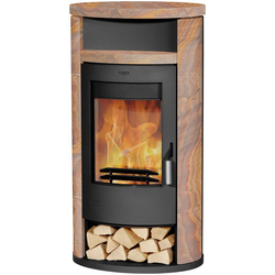 Fireplace Kaminofen ALICANTE loticstone, 8,5 kW, Zeitbrand