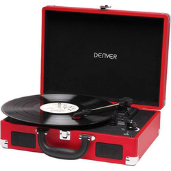 Denver VPL-118 Plattenspieler Riemenantrieb Rot
