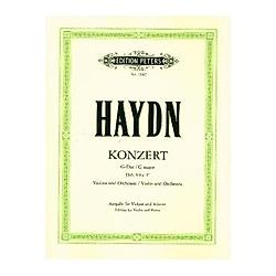 Konzert für Violine und Orchester G-Dur Hob. VIIa: 4 (Ausgabe für Violine und Klavier - Kadenzen vom Herausgeber). Joseph Haydn  - Buch