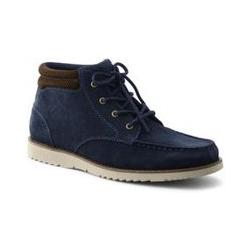 Komfort-Chukka Boots aus Leder - 41 - Blau