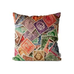 Kissenbezug, VOID (1 Stück), Briefmarken Post Sammlung Kissenbezug Briefmarken Post Sammlung Brief Sammeln A bunt 80 cm x 80 cm