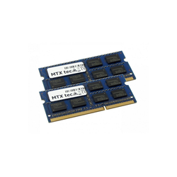MTXtec 2GB Kit 2x 1GB DDR2 533MHz SODIMM DDR2 PC2-4200, 200 Pin RAM Laptop-Arbeitsspeicher