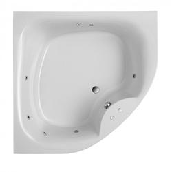 Ottofond Eckbadewanne Lima mit Whirlpoolsystem VIsion Weiß 140 x 140 x 50 cm