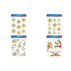 AVERY Zweckform ZDesign Weihnachts-Fensterbild Sterne silber transparente Folie, Blattformat: A4, selbstklebend, - 1 Stück (52952)
