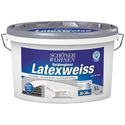 SCHÖNER WOHNEN-Kollektion Latexfarbe Latexweiß, 5 l, DIN EN 13 300
