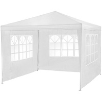 Tectake Pavillon 3,00 x 3,00 m inkl. 3 Seitenteilen weiß