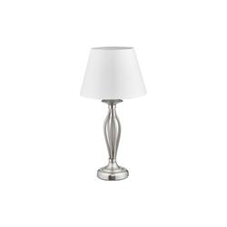 relaxdays Stehlampe Schirmlampe Antik silberfarben 27 cm x 27 cm x 53 cm