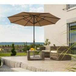 Schneider Schirme Sonnenschirm Korsika, ohne Schirmständer beige
