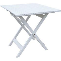 Grasekamp Balkontisch Toskana 70 x 70 cm Weiß  Klapptisch Beistelltisch Gartentisch