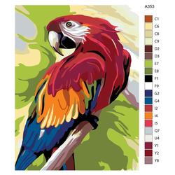 "Malen nach Zahlen ""Kakadu Papagei"", 30x40cm, A353"