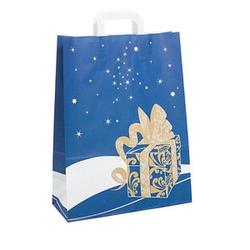 250 Geschenktaschen Weihnachtsgeschenk blau
