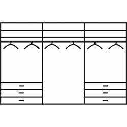 WIEMANN Schwebetürenschrank Malibu 300 cm x 216 cm x 67 cm