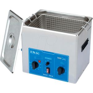 EMMI 100 HC - Ultraschallreiniger, 10 l , 300 W, mit Heizung, Edelstahl