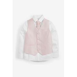 Next Anzugweste Bräutigam - Weste, Hemd und Krawatte im Set (3-tlg) rosa 128