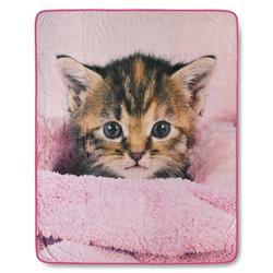 Wohndecke Baumwolle-satin Pink, good morning, Decke