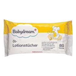 80er-Pack Öl-Lotionstücher weiß, Babydream