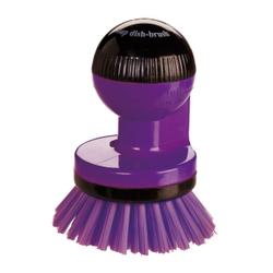 Haug spüli-rondo Knopfbürste, mit Spülmittelspender, Besatz: Nylon 6,6, Farbe: plum