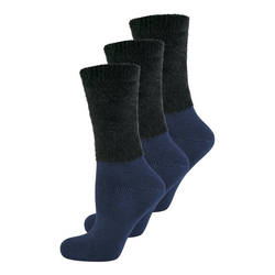Elbeo Freizeitsocken 3-Pack Cozy Winter blau 35-38
