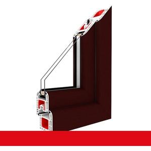 Kunststofffenster Dreh (ohne Kipp) Fenster Braun Maron