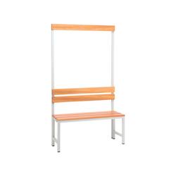 SZ METALL Sitzbank, Sitzbank 1 m, mit Hakenleiste-Garderobe 100 cm x 42 cm x 30 cm