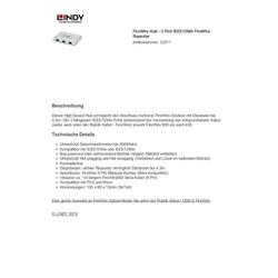 Lindy Firewire Hub - 3 Port