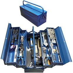 BGS Werkzeugset, (Set, 137 St.) blau Werkzeugkoffer Werkzeug Maschinen Werkzeugset