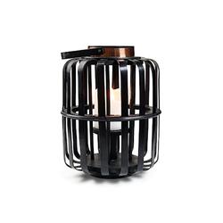 Bercato Kerzenhalter Bambus Schwarz