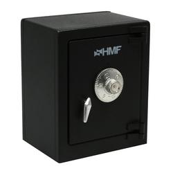 HMF Spardose 306, Minitresor mit Zahlenschloss, 13,5 x 11 x 8 schwarz 11 cm x 13.5 cm x 8 cm