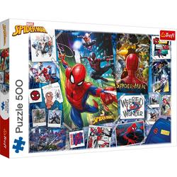 Trefl Puzzle Trefl 37391 Marvel Spider-Man 500 Teile Puzzle, Puzzleteile bunt