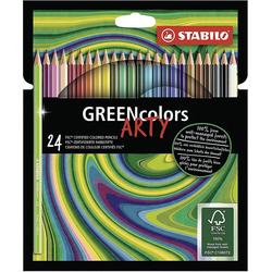 STABILO Dekorierstift Buntstifte GREENcolors ARTY, 24 Farben