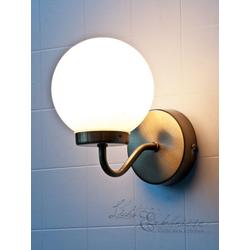 Licht-Erlebnisse Wandleuchte TOGO Badleuchte Wand Jugendstil Bronze Weiß edel Badlicht Lampe