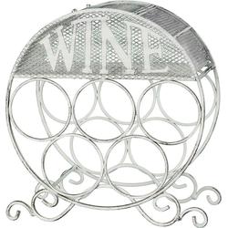 Weinflaschenhalter, Flaschenhalter, 56496015-0 weiß weiß (LxBxH): 18 x 31 x 33 cm