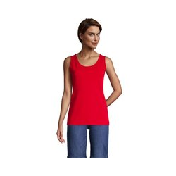 Top, Damen, Größe: XS Normal, Rot, Baumwolle, by Lands' End, Kompassrot - XS - Kompassrot