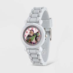 Kids' Disney Toy Story 4 Buzz Lightyear Plastic Time Teacher Silicone Strap Watch - Gray