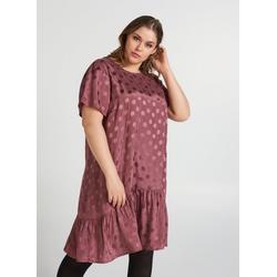Zizzi Abendkleid Große Größen Damen Kurzärmeliges Kleid mit Tupfen XL (54/56)