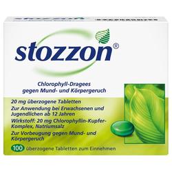 STOZZON Chlorophyll überzogene Tabletten 100 St