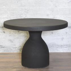 baario Gartentisch Steintisch DOLIN rund, schwarz Gartentisch rund Ø107 wetterfest Antik Design