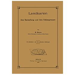 Landkarten ihre Herstellung und ihre Fehlergrenzen. H. Struve  - Buch