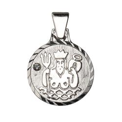 Firetti Sternzeichenanhänger runde Form, diamantiert, mit Kristallstein 11