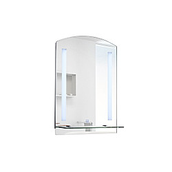 LED Wandspiegel (Farbe: silber, Größe: 70 x 50 x 4 cm (LxBxH))