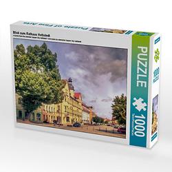 Blick zum Rathaus Hettstedt Lege-Größe 64 x 48 cm Foto-Puzzle Bild von Steffen Gierok ; Magik Artist Design Puzzle