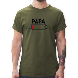 Shirtracer T-Shirt Papa leere Batterie - Partner-Look Familie Papa - Herren Premium T-Shirt - T-Shirts t-shirt papa leere batterie L
