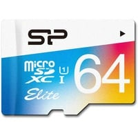 Silicon Power microSDXC Elite Colorful 64GB Class 10 UHS-I + SD-Adapter