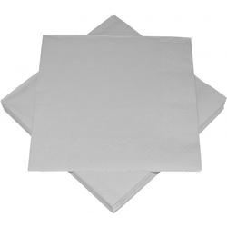 Servietten BASIC silber(BT 33x33 cm)